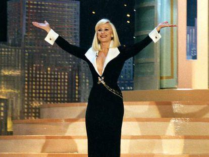 Raffaella Carrà en uno de los programas de 'Hola Raffaella'.