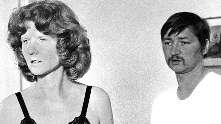 Irm Hermann y Fassbinder, a finales de los sesenta.