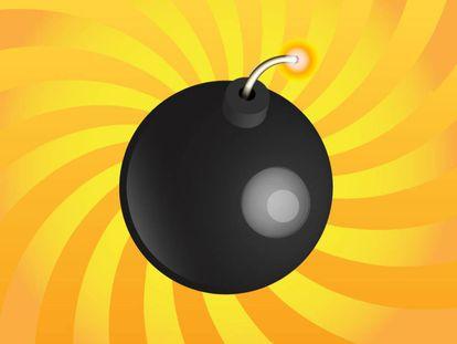 Ilustración de una bomba.