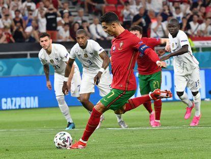 Cristiano Ronaldo marca el 1-0, de penalti.