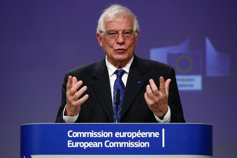 El jefe de la diplomacia europea, Josep Borrell, en Bruselas, este martes.