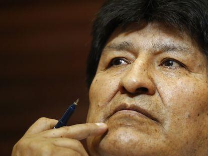 El expresidente de Bolivia, Evo Morales, durante una rueda de prensa celebrada en Buenos Aires el 22 de octubre pasado.