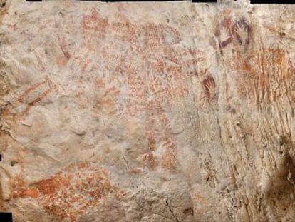 La pintura, de 40.000 años, se encuentra en una cueva remota en la jungla de la isla indonesia de Borneo