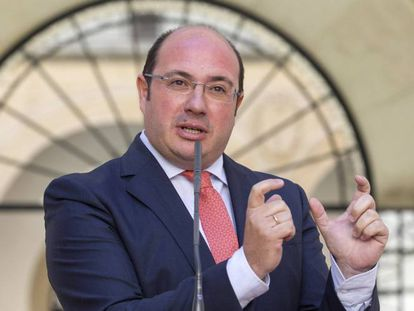 El presidente de la Región de Murcia, Pedro Antonio Sánchez.