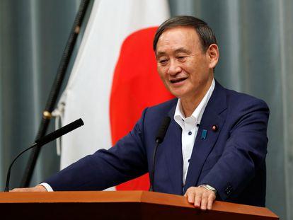 El nuevo líder del Partido Liberal Demócrata japonés, Yoshihide Suga