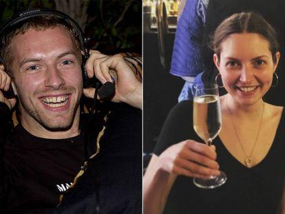 El cantante Chris Martin y su hermana, la actriz Nicola Wren.