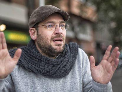 Albano Dante Fachin, lider de Podem, el jueves, en un momento de la entrevista.