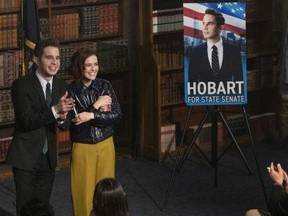 Ben Platt y Zoey Deutch, en el tercer episodio de la segunda temporada de 'The Politician'.