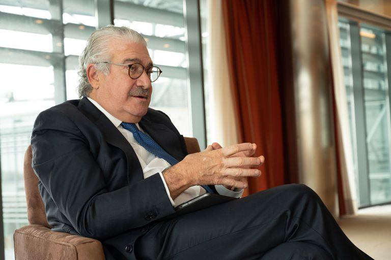 José Bogas, consejero delegado de Endesa, durante la entrevista en la sede de la empresa en Madrid.