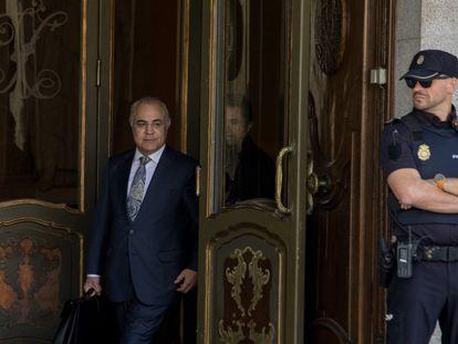 El juez Pablo Llarena sale del Tribunal Supremo, el 14 de octubre de 2019, tras reactivar la euroorden contra Carles Puigdemont.