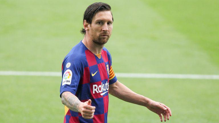 Messi, durante un partido de Liga.