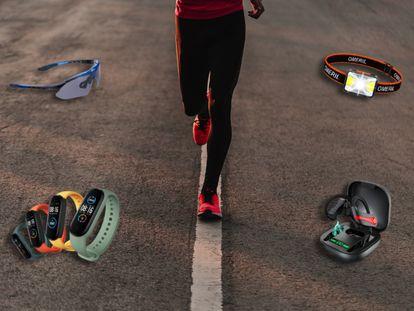Pulseras de actividad, frontales, gafas polarizadas o auriculares deportivos son algunas de las propuestas para regalar a los amantes del 'running'.