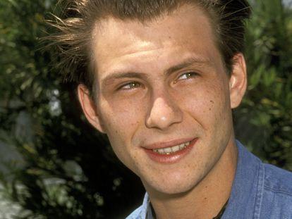 Christian Slater, fotografiado en 1991 en un evento en Beverly Hills. Entonces era una de las grandes esperanzas de Hollywood para convertirse en la gran estrella de la nueva década.