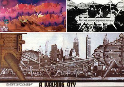 Dibujo de Walking City, uno de los proyectos futuristas de Archigram.