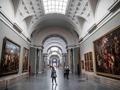 Interior del Museo del Prado, el pasado mes de octubre de 2020.