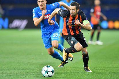Darijo Srna, en un partido contra el Nápoles en septiembre.