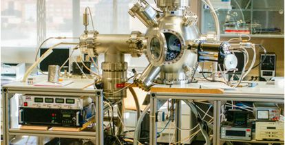 Instalación de construcción propia donde se han fabricado las nanopartículas de cobre y óxido de cobalto.