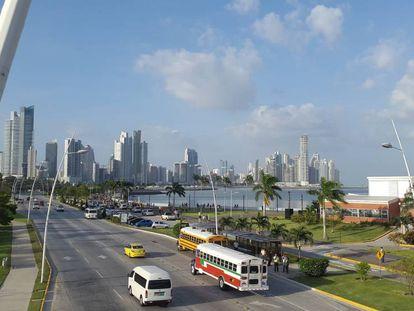 Centro financiero de Ciudad de Panamá.