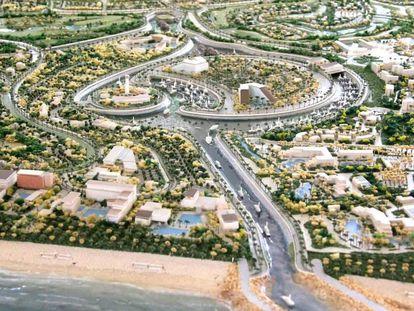 Imagen promocional del proyecto Playa Espíritu en Sinaloa, México.