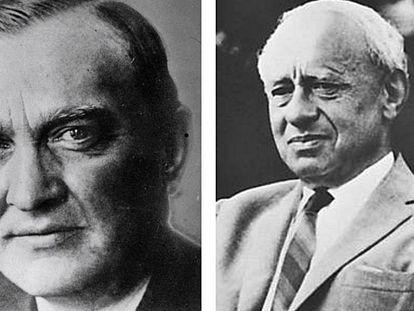 Stefan Banach (izquierda) y Alfred Tarski (derecha).
