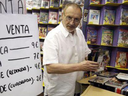 Juan Jurado, en el videoclub La Strada.