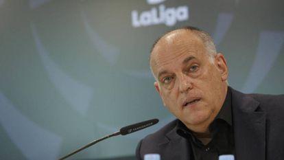 Javier Tebas, presidente de LaLiga, en una imagen de archivo.