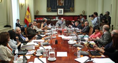 Pleno del CGPJ tras la dimisión de Carlos Dívar.