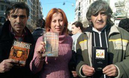 Elisa Vidal, Lucky Martínez y Vicente Espí.