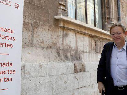 El presidente de la Generalitat valencian este sábado. En vídeo, Ximo Puig habla sobre la investigación a su hermano.