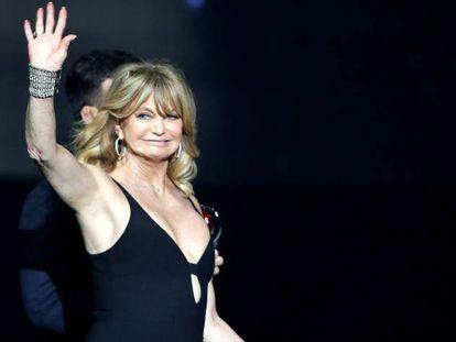 Goldie Hawn, en CinemaCon, en Las Vegas.
