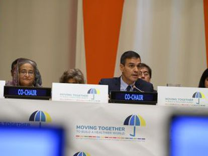 Pedro Sánchez ha anunciado este martes en la ONU que aportará 100 millones al Fondo Global para la lucha contra el Sida, la Malaria y la Tuberculosis