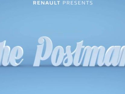 """Renault Z. E. """"El cartero. Todo comienza con un momento eléctrico"""". Agencia Publicis, Francia."""