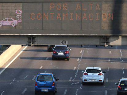 Restricción a la velocidad en la M-30 por contaminación.