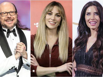 Santiago Segura, Edurne y Pilar Rubio.
