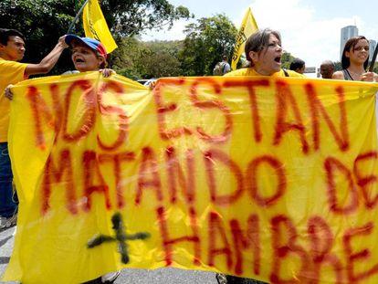 Protesta en Caracas contra el gobierno de Maduro.