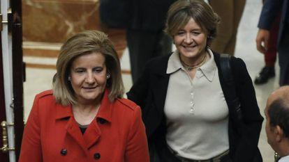 Fátima Báñez e Isabel García Tejerina, cuando eran ministras.
