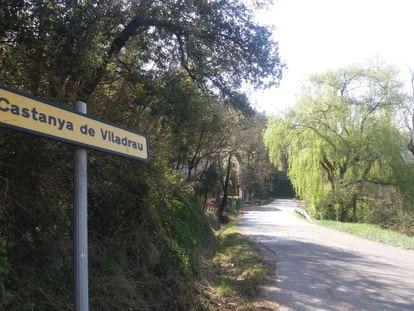 La carretera a Viladrau, en el tramo del restaurante La Barita.