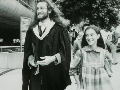 Mauro Ferrari con su primera mujer, Marialuisa, en Berkeley en 1987, cuando tenían 28 y 25 años.