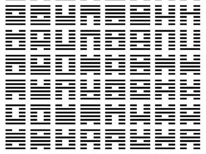 """""""Secuencia del rey Wu"""" o """"secuencia recibida"""" que figura en el 'Libro de las Mutaciones'."""