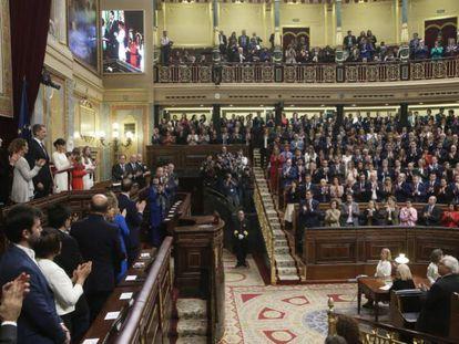 Apertura solemne de la legislatura el pasado lunes en el Congreso.