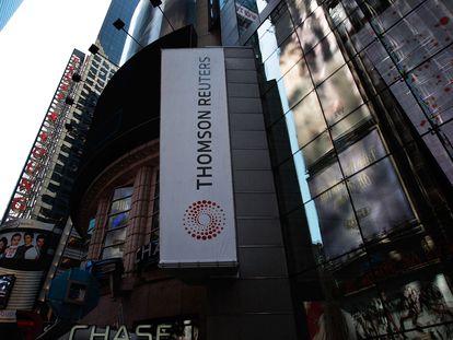 Sede de Thomson Reuters en Times Square, Nueva York, este sábado.