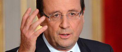 François Hollande, ayer en el Elíseo.