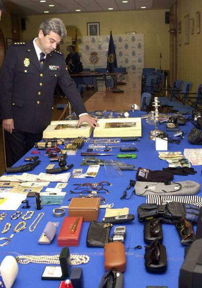 El comisario Julio Corrochano en diciembre de 2001.