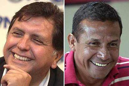 Alan García (izda.), del partido Aprista Peruano, y Ollanta Humala (dcha.), del partido Unión por el Perú, se disputarán la presidencia de Perú el 28 de mayo.