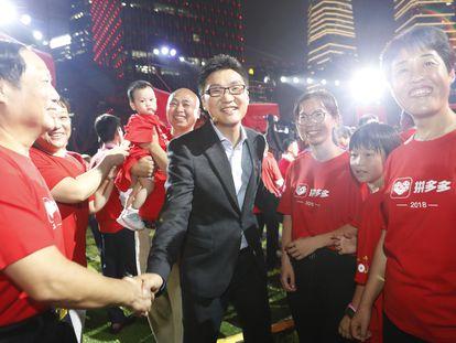 Huang Zheng, fundador de Pinduoduo, el 26 de julio de 2018 cuando salió a Bolsa la compañía