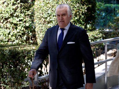 El extesorero del PP Luis Bárcenas abandona la sede de la Audiencia Nacional el pasado 16 de julio tras declarar ante el juez Santiago Pedraz.