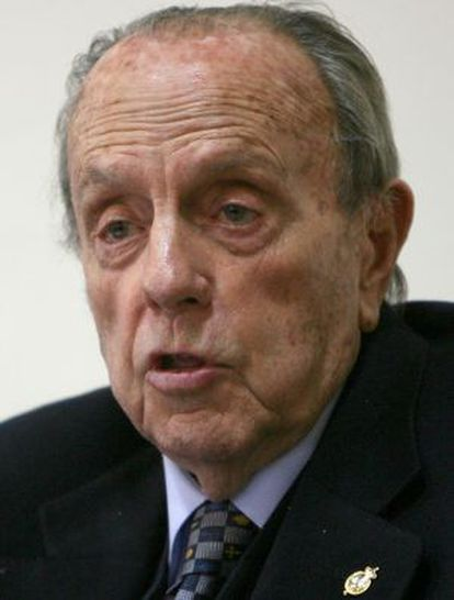 Manuel Fraga, en 2007, en la presentación de la fundación que lleva su nombre.