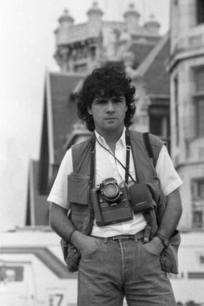 Juantxu Rodríguez en Santander en 1983.