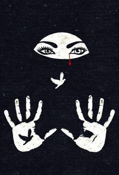 Ilustración de Raquel Marín sobre la primavera árabe.