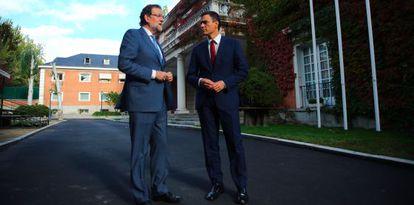 El presidente del Gobierno y el líder de la oposición, este miércoles en La Moncloa.